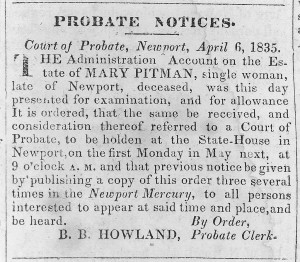 Old Probate Notice